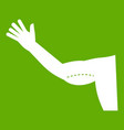 flabby arm cosmetic correction icon green vector image vector image