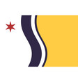 flag of south bend in usa vector image