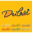 Flat design Dubai vector image vector image