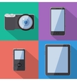 Flat Style Gadgets With Long Shadow Set vector image vector image