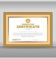 framed vintage rising star certificate vector image