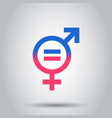 gender equal icon on isolated background business vector image vector image