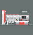 grand exhibition stand display mock up high vector image vector image
