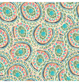 Hand drawn colorful Indian seamless patterns vector image vector image