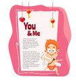 hand drawn valentines day background vector image vector image
