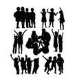 happy kids in school activity vector image vector image