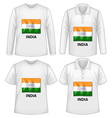 India shirts vector image vector image