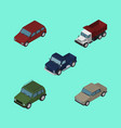isometric car set of suv freight car and other vector image vector image