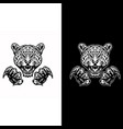 jaguars and claws black and white version vector image