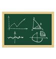 mathematical abstract charts sketch on chalkboard vector image vector image