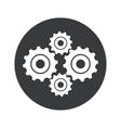 Monochrome round cogs icon vector image