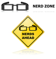 Nerds signs vector image vector image