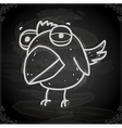 Parrot Cartoon Drawing on Chalk Board vector image vector image