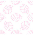 pattern with shells on white vector image vector image