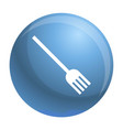 plastic fork icon simple style vector image vector image