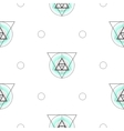 Sacred geometry triangle shapes seamless vector image vector image