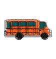 school bus vehicle vector image vector image