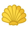 sea shell yellow in semicircular form mollusk vector image