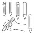 set of pencil vector image vector image