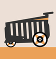 shopping car web icon red line vector image vector image