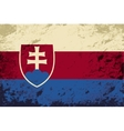 Slovakia flag Grunge background vector image vector image