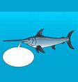 swordfish pop art vector image vector image