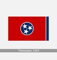 tennessee usa state flag tn usa vector image