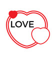 three red hearts on a white background vector image vector image