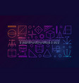 trigonometry colorful banner or vector image vector image