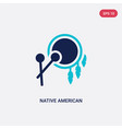 two color native american drum icon from culture