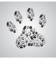 various animal footprints eps10 vector image vector image