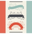 Vintage floral design elements and ribbons vector image
