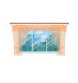window with city landscape and trees view outside vector image vector image