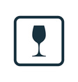 Wineglass icon Rounded squares button