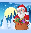 winter scene with christmas theme 2 vector image