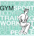Woman lifting dumbbells at the gym vector image