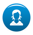 woman user icon blue vector image vector image