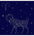 Zodiac sign Aries on the starry sky vector image vector image