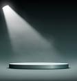 floodlight illuminates a pedestal for presentation vector image