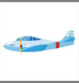 airplane jet personal speed cartoon blue colour vector image