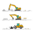 all excavator vector image
