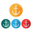 anchor icon set flat design vector image vector image