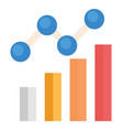 bar graph flat icon vector image vector image