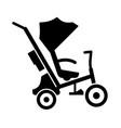 batricycle stroller vector image vector image