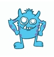 Blue monster kids t-shirt design vector image vector image