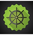 Boat Steering Whell Flat Icon with long shadow vector image vector image