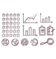business rating icon set sketch on white backdrop vector image