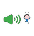 businessman character closed ears and running vector image