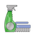 cleaning equipment design vector image vector image