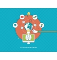 Communication distance education and social media vector image vector image